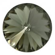 Swarovski Elements Rivolis 8mm Black Diamond F 6 Stück
