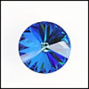 Swarovski Elements Rivolis 14mm Crystal Bermuda Blue foiled 1 Stück