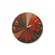 Swarovski Elements Rivolis 14mm Crystal Copper foiled 6 Stück