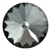 Swarovski Elements Rivolis 8mm Crystal Silver Night F 6 Stück