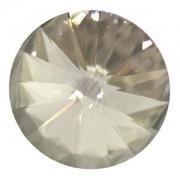 Swarovski Elements Rivolis 8mm Crystal Silver Shade F 6 Stück