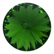 Swarovski Elements Rivolis 14mm Dark Moss Green foiled 1 Stück