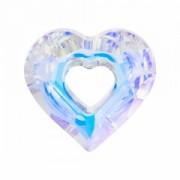 Swarovski Elements Herz Miss u Heart Designer Edition 34mm Crystal AB beschichtet 1 Stück