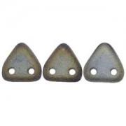 Zwei Loch Dreieckperlen 01 6mm matt rainbow Brown ca 10 gr