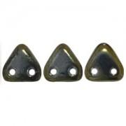 Zwei Loch Dreieckperlen 03 6mm rainbow Brown ca 10 gr