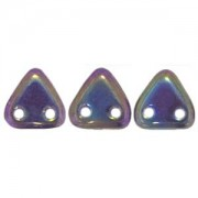 Zwei Loch Dreieckperlen 05 6mm rainbow Purple ca 10 gr