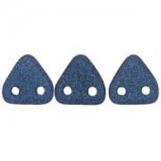 Zwei Loch Dreieckperlen 11 6mm polychrome Blue ca 10 gr