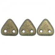 Zwei Loch Dreieckperlen 13 6mm polychrome Gold ca 10 gr