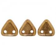 Zwei Loch Dreieckperlen 19 6mm Bronze ca 10 gr