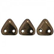Zwei Loch Dreieckperlen 36 6mm dark Bronze ca 10 gr