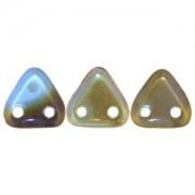 Zwei Loch Dreieckperlen 48 6mm  Sapphire Celsian ca 10 gr