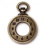 Tierracast Anhänger Clock 28x20mm Altgold