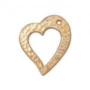 Tierracast Anhänger Hammertone Heart 22x20mm Gold 1 Stück