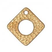Tierracast Anhänger Hammertone Square 24mm Gold 1 Stück