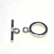 T-Verschluss 10mm Ring 15mm T-Stück 925er Silber 1 Stück im Beutel