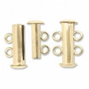 Rohrsteck-Verschluss magnetisch 2-strängig 16mm goldfilled