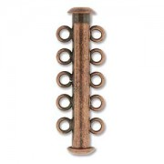 Rohrsteckverschluss 31mm 5-strängig Antique Copper 1 Stück