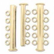 Rohrsteck-Verschluss magnetisch 5-strängig 32mm goldfilled