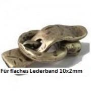 Magnetverschluss Gürtelschnalle 37x21mm für 10x2mm Lederband Altgold