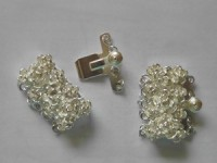Verschluss Rose 5-strängig 22x16mm 925er Sterling Silber 1 Stück
