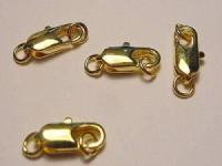 Karabiner Lobster 12mm goldfarben 5 Stück