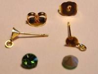 Ohrsteckerfassung 4mm 1 Paar vergoldet nickelfrei