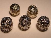filigrane Kugel 12mm metallfarben