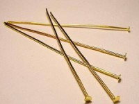 Headpin Nietenstift 50mm 20 Stück goldfarben Dicke 0,6mm