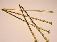 Headpin Nietenstift 50mm 20 Stück goldfarben Dicke 0,5mm