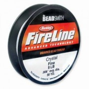 Fireline 0,12mm 4LB 50 yard Spule crystal