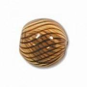 Glasperlen hohl rund 13mm Amber Brown 15 Stück