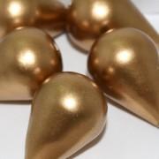 Paper Mache Bead Drop 27x18 mm Gold 1Stück