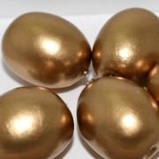 Paper Mache Bead Olive 24x18 mm Gold 1Stück