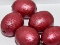 Paper Mache Bead Olive 24x18 mm Bordeaux 1Stück