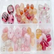 Glasperlen Mix M rose