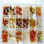 Glasperlen Mix XL braun