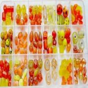 Perlenplanet Perlenbox XL orange gelb