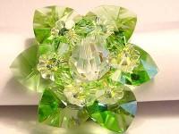 Perlenset Lotusring, Peridot Crystal