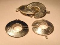Verschluss 10mm 2teilig 925 Silber gebürstet