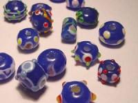 Glasperlen 10-15mm dunkelblau