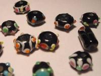 Glasperlen 10-15mm schwarz