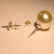 Ohrstecker mit Schale 3mm zum einkleben halbgebohrter Pearls 1 Paar 925er Silber