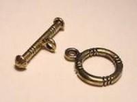 T-Verschluss  12mm Ring 20mm T-Stück goldfarben Maritim klein