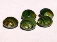Glasperlen Linse 18x8mmgrün