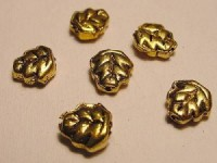 Blatt 7mm goldfarben 10 Stück