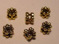 Doppelspacer Blütenform goldfarben 4mm 25 Stück