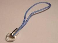 Handyanhänger 6cm Spaltring hellblau
