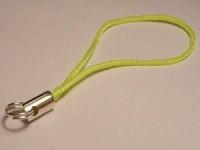 Handyanhänger 6cm Spaltring neongelb