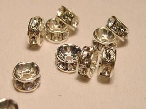 Swarovski Elements Strassrondelle 4mm Steine Crystal versilbert nickelfrei 10 Stück