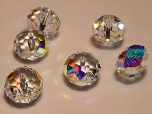 Swarovski Elements Perlen Spacer 8mm Crystal AB beschichtet 10 Stück